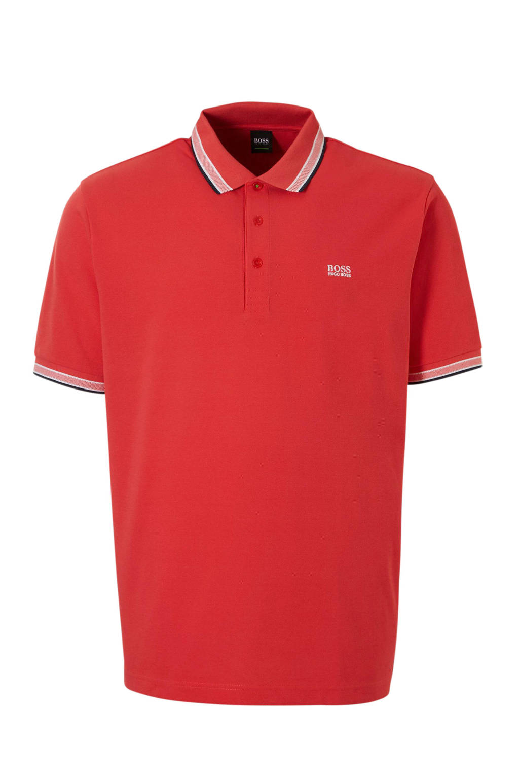 Boss Athleisure regular fit polo rood, Rood