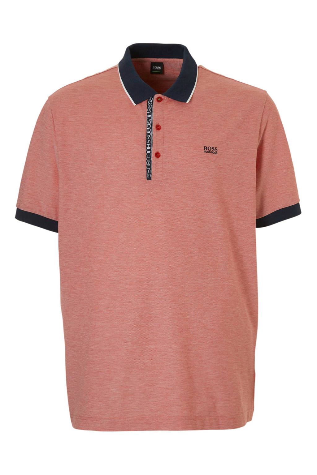 Boss Athleisure plussize polo, Rood