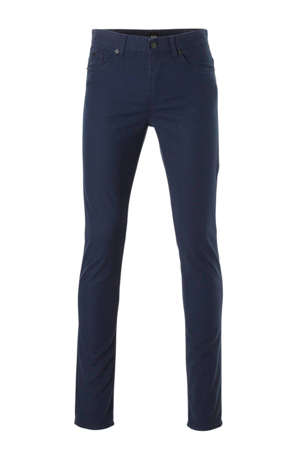 Boss Business slim fit broek, Donkerblauw