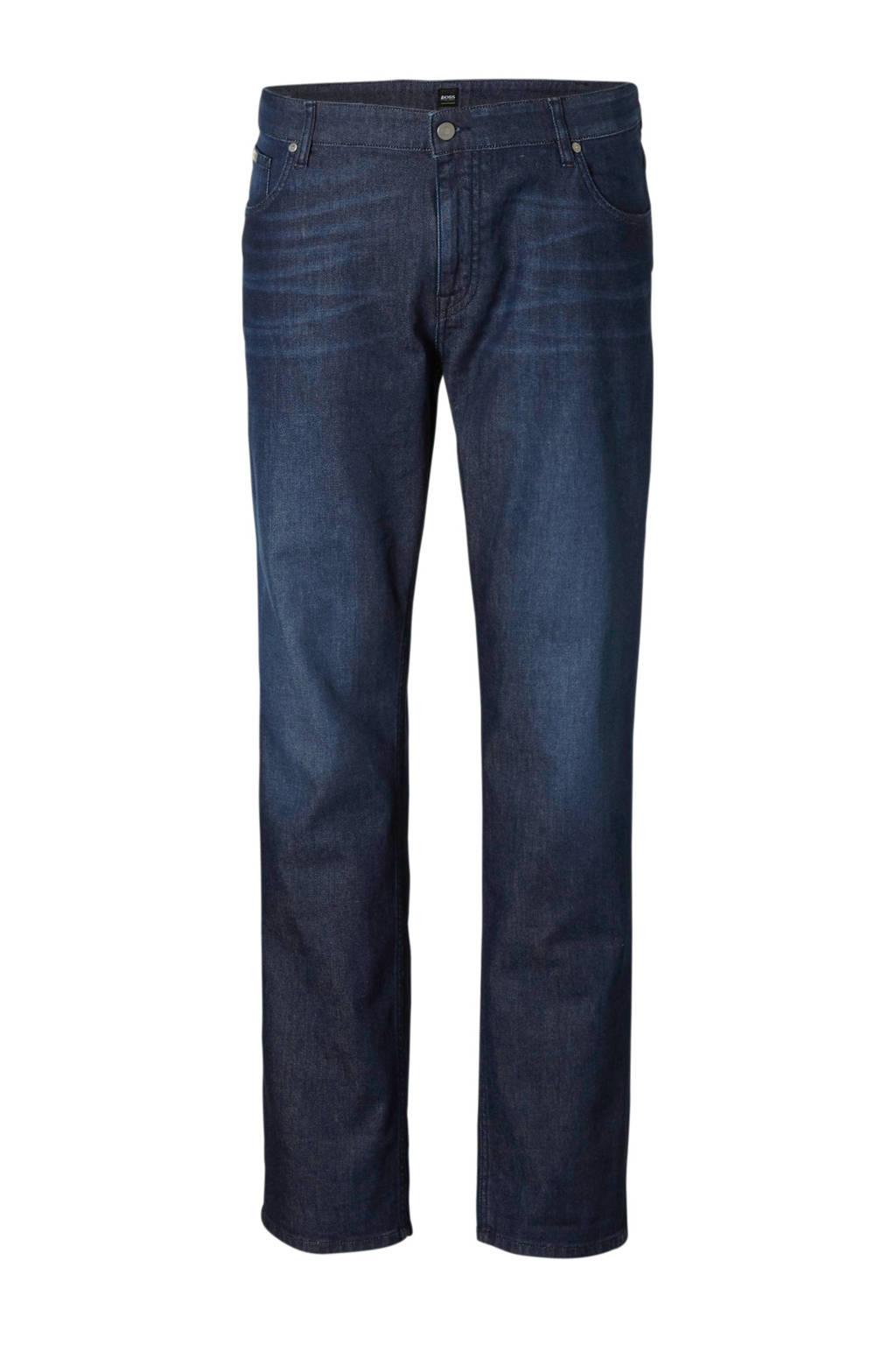 Boss Athleisure regular fit jeans, Donkerblauw