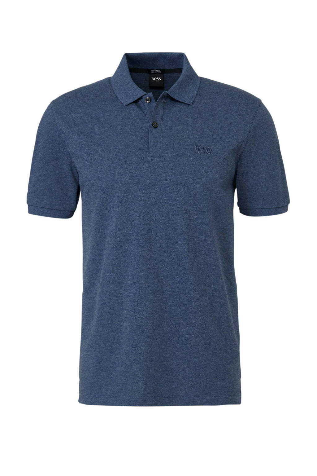 Boss Business regular fit polo, Donkerblauw