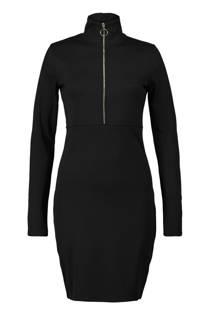 CoolCat jurk met col zwart