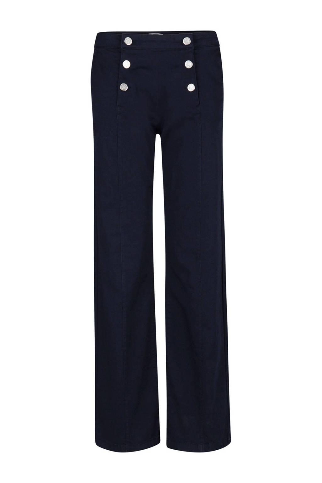 WE Fashion loose fit broek blauw, Donkerblauw