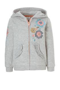 C&A Palomino sweatvest met bloemen pailletten grijs (meisjes)