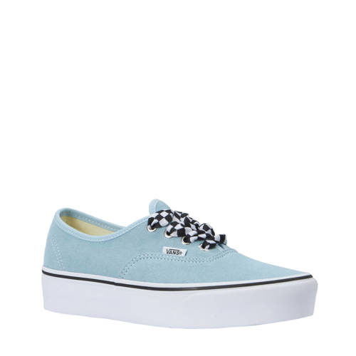 VANS Authentic Platform sneakers van suede lichtblauw