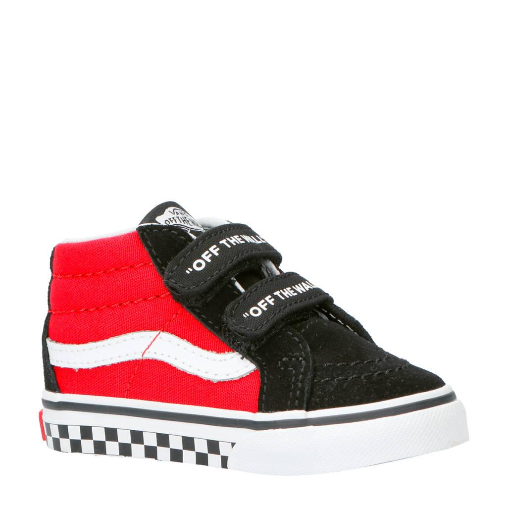 VANS  Sk8-Mid Reissue sneakers zwart/rood/wit, Zwart/rood/wit