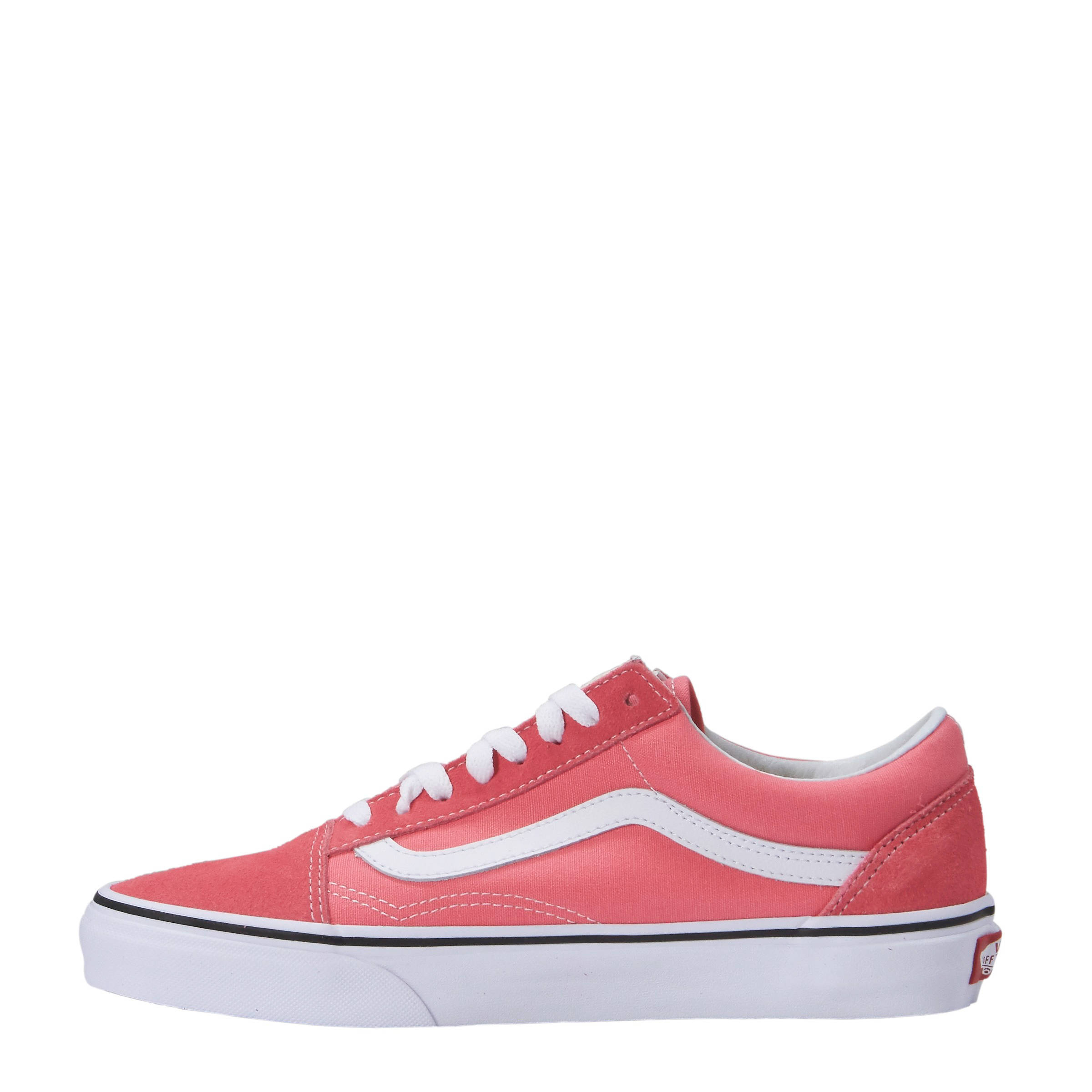vans roze wit