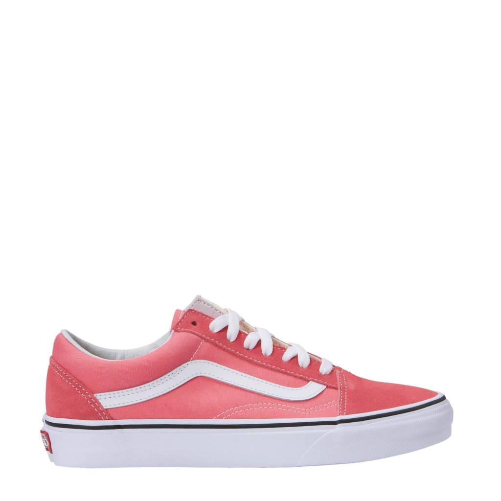 VANS  Old Skool suède sneakers roze/wit, Roze/wit