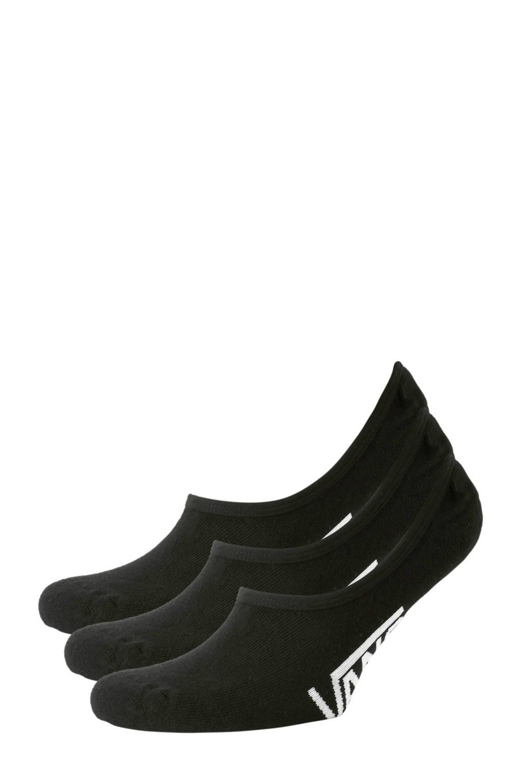 VANS sneakersokken zwart - set van 3, Zwart