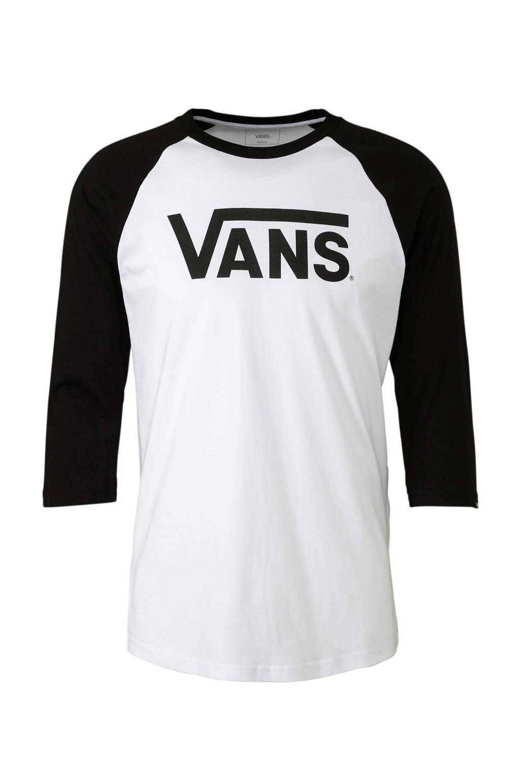 VANS T-shirt wit/zwart, Wit/zwart