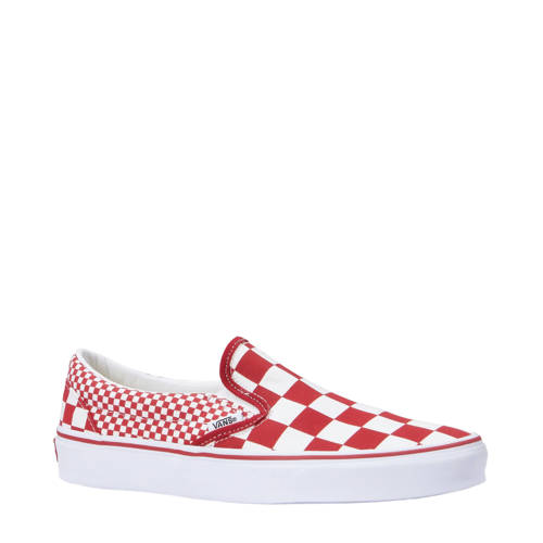 VANS UA Classic Slip-On sneakers rood-wit
