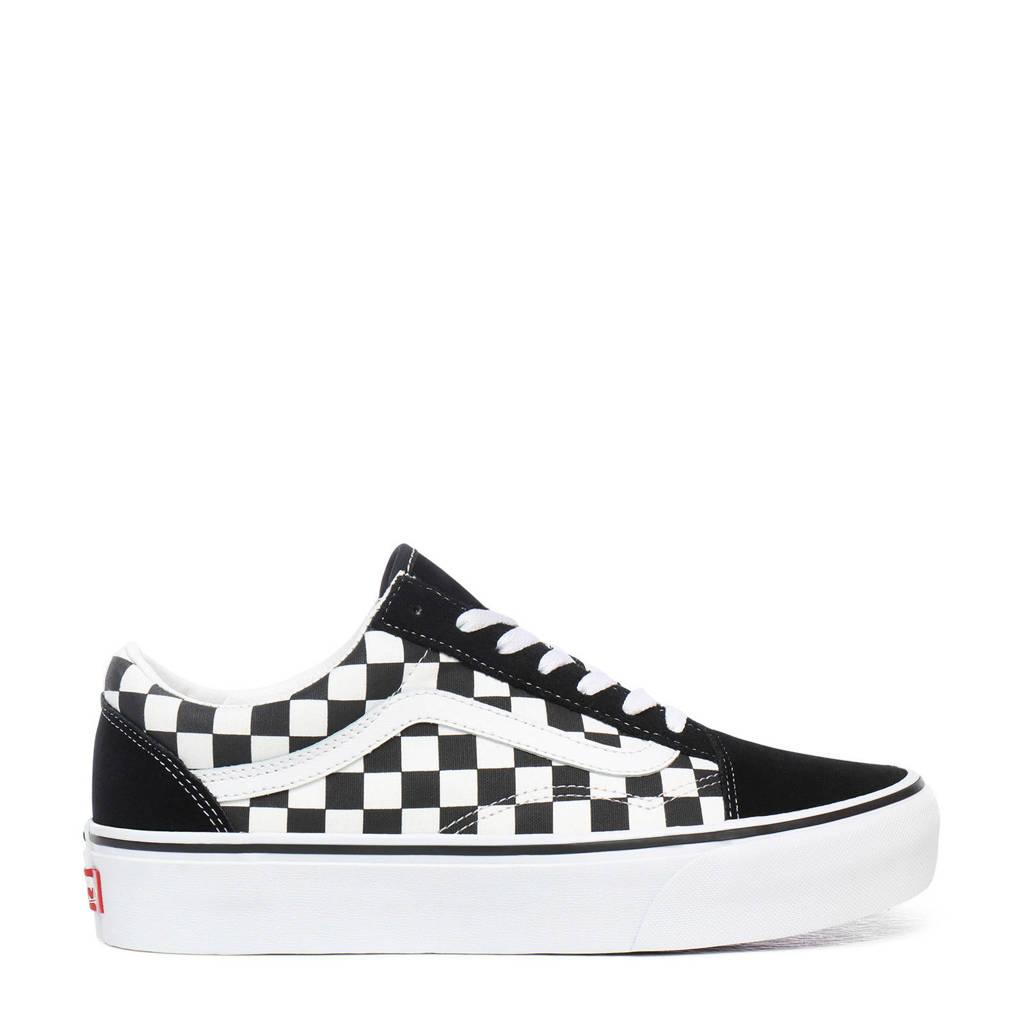 VANS   Old Skool Platform sneakers zwart/wit, Zwart/wit