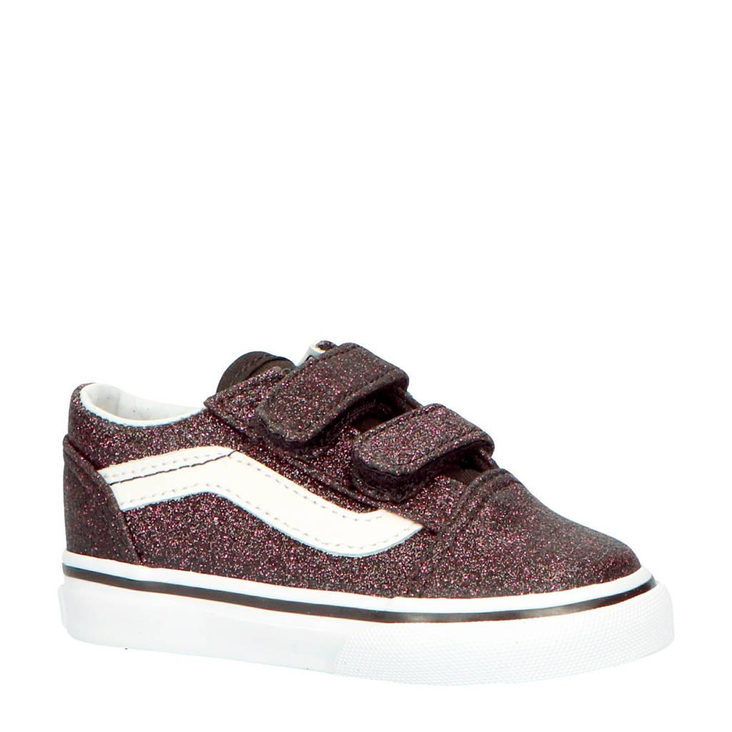 VANS  TD Old Skool V sneakers roze/zwart, Roze/zwart