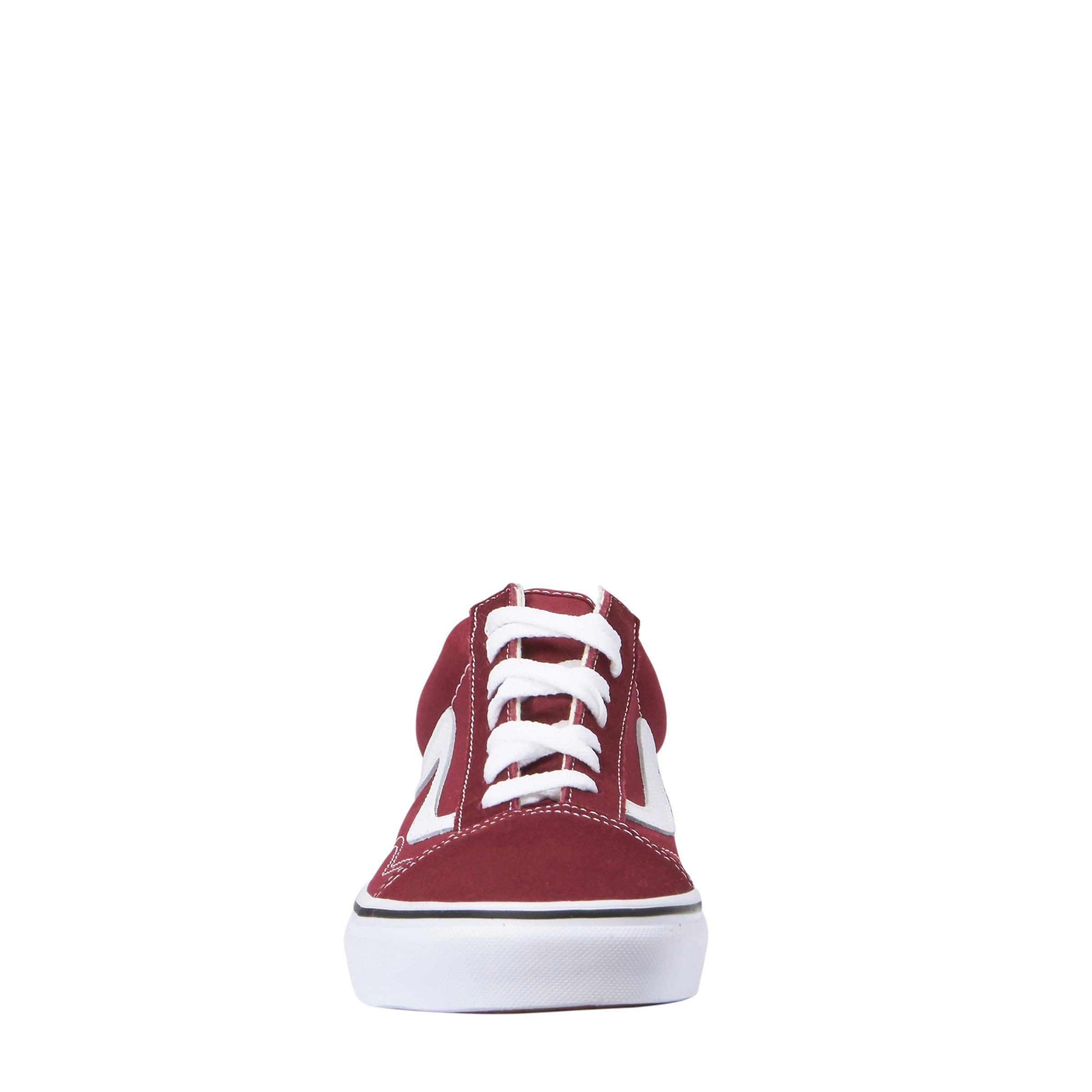 Old Skool suède sneakers donkerrood