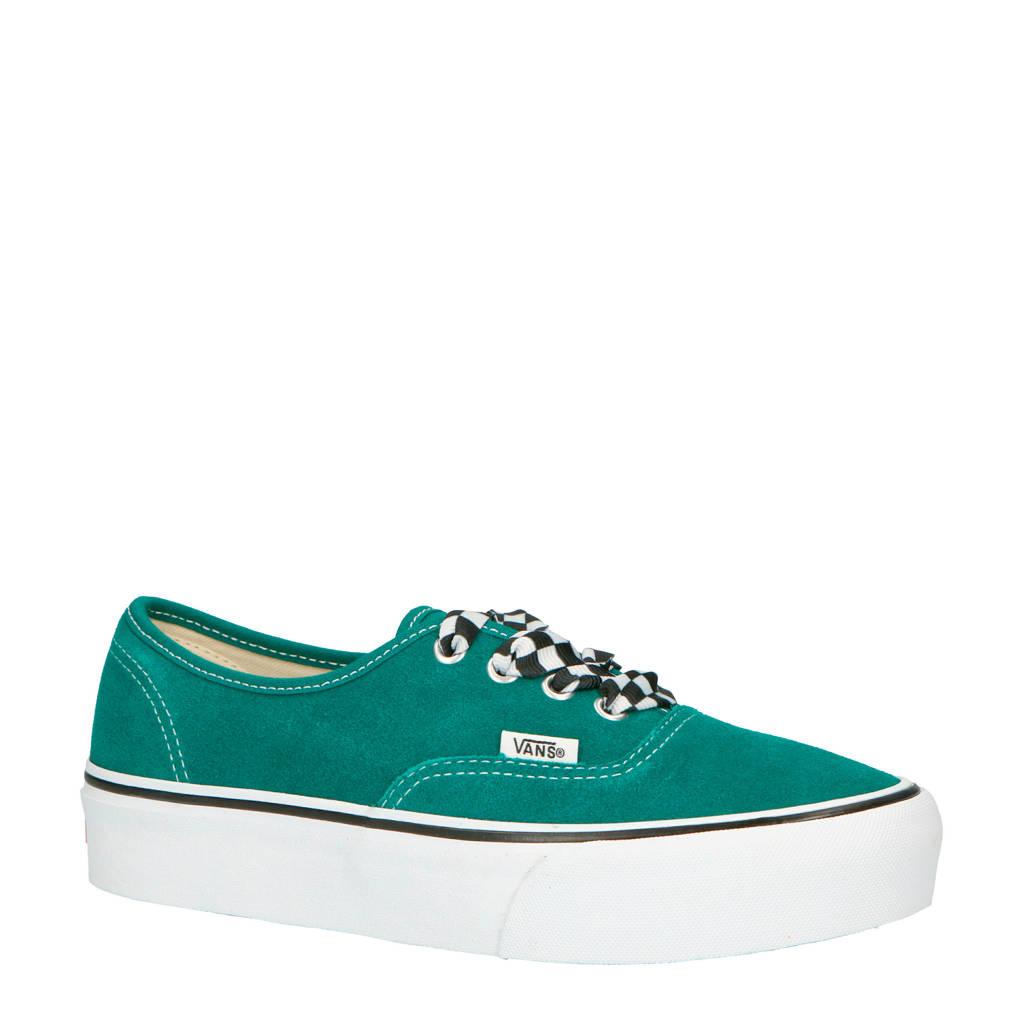 f4ec442e331 VANS Authentic Platform sneakers van suede lichtblauw | wehkamp