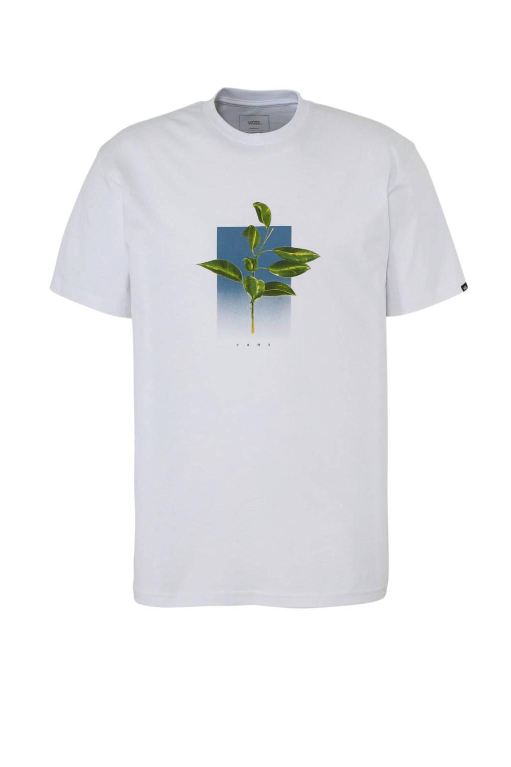 VANS   T-shirt met printopdruk wit, Wit