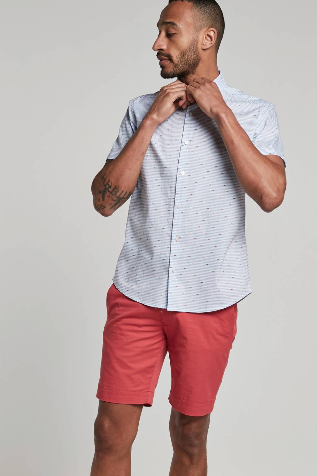 Boss Casual regular fit overhemd met print blauw, Blauw