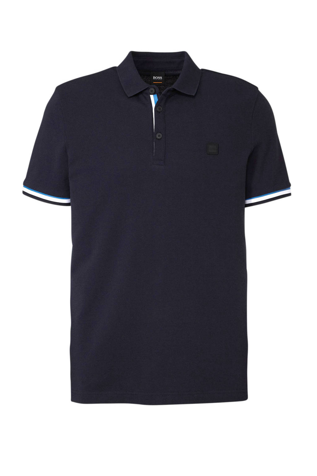 Boss Casual regular fit polo donkerblauw, Donkerblauw