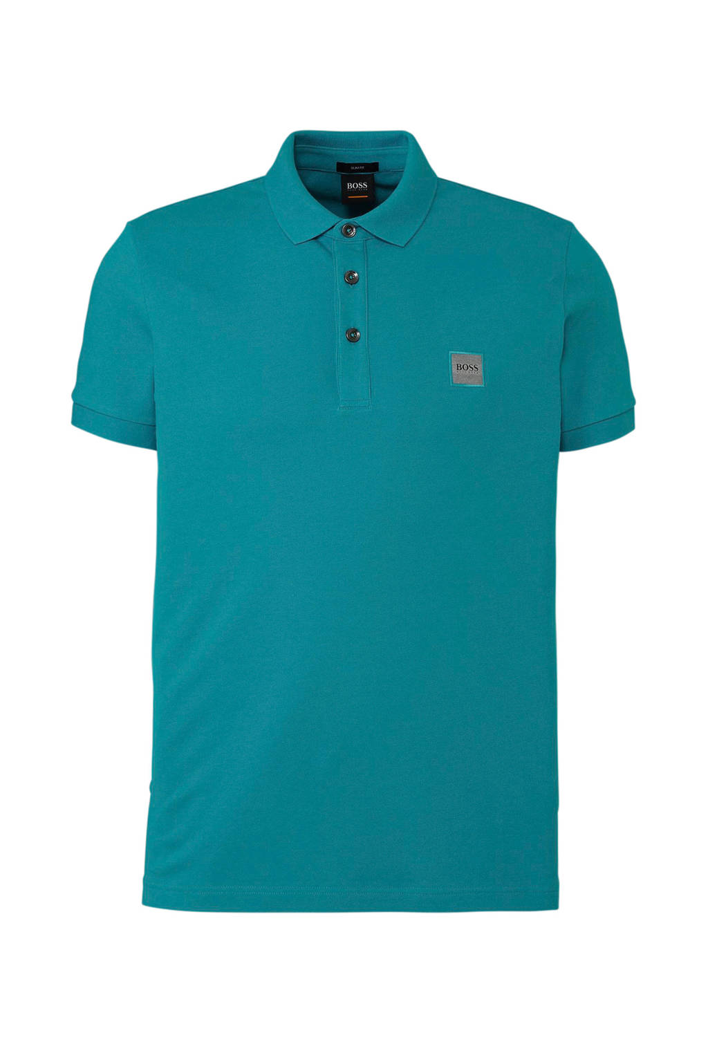 Boss Casual slim fit polo, Blauw