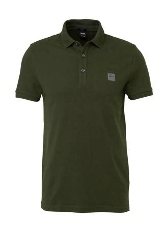 slim fit polo donkergroen