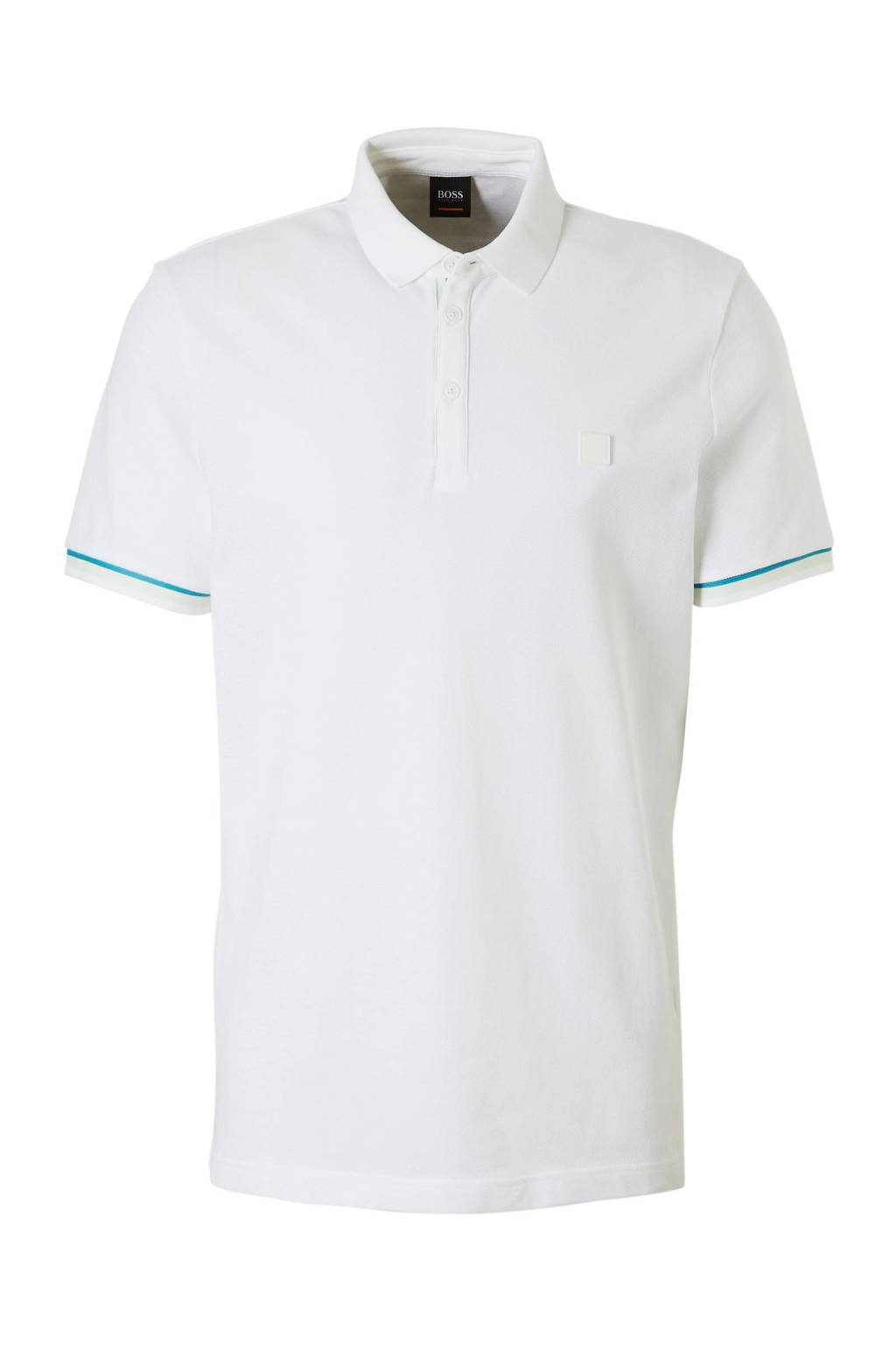 Boss Casual regular fit polo wit, Wit