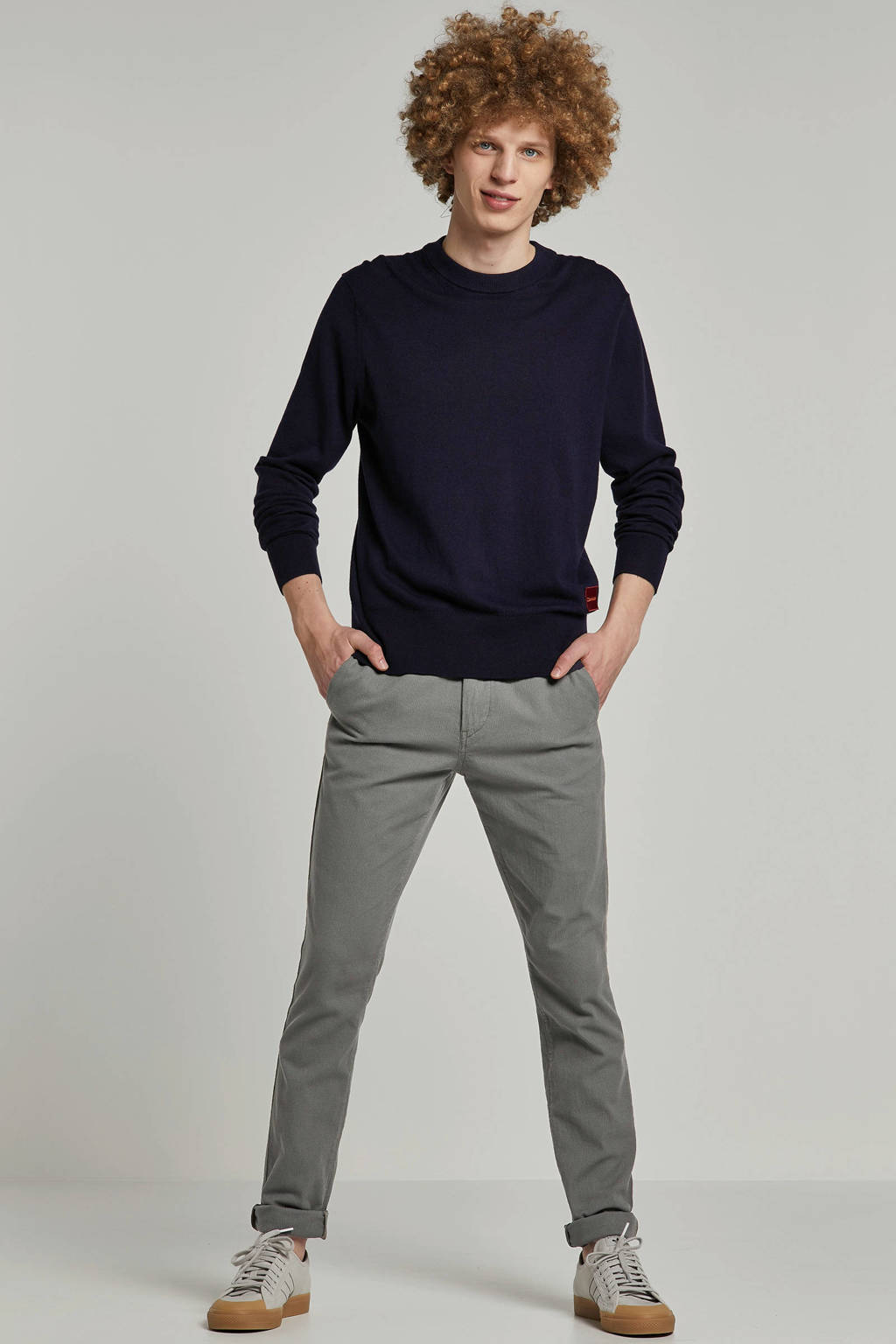 Boss Casual slim fit chino, Antraciet