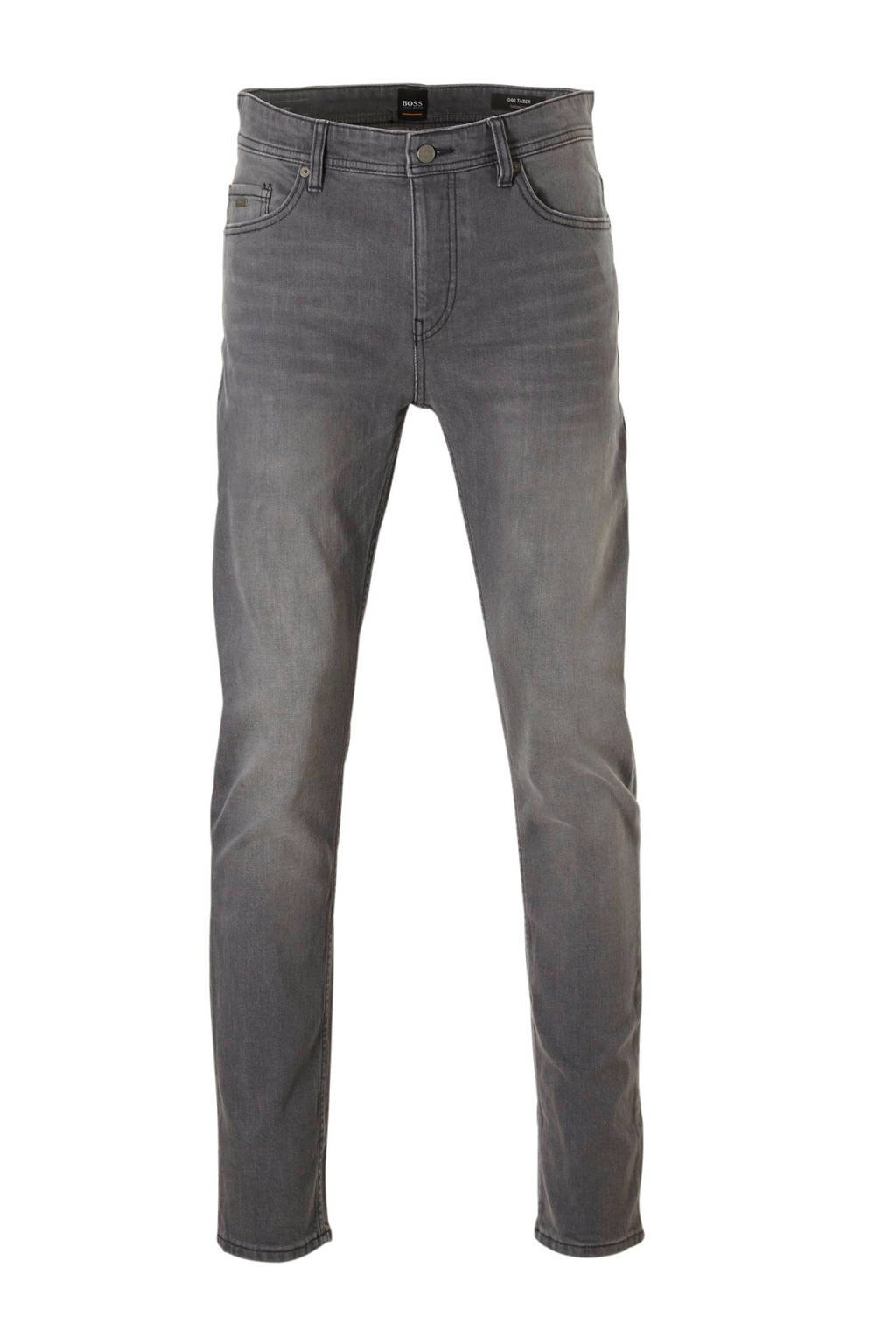 Boss Casual tapered fit jeans, Grijs