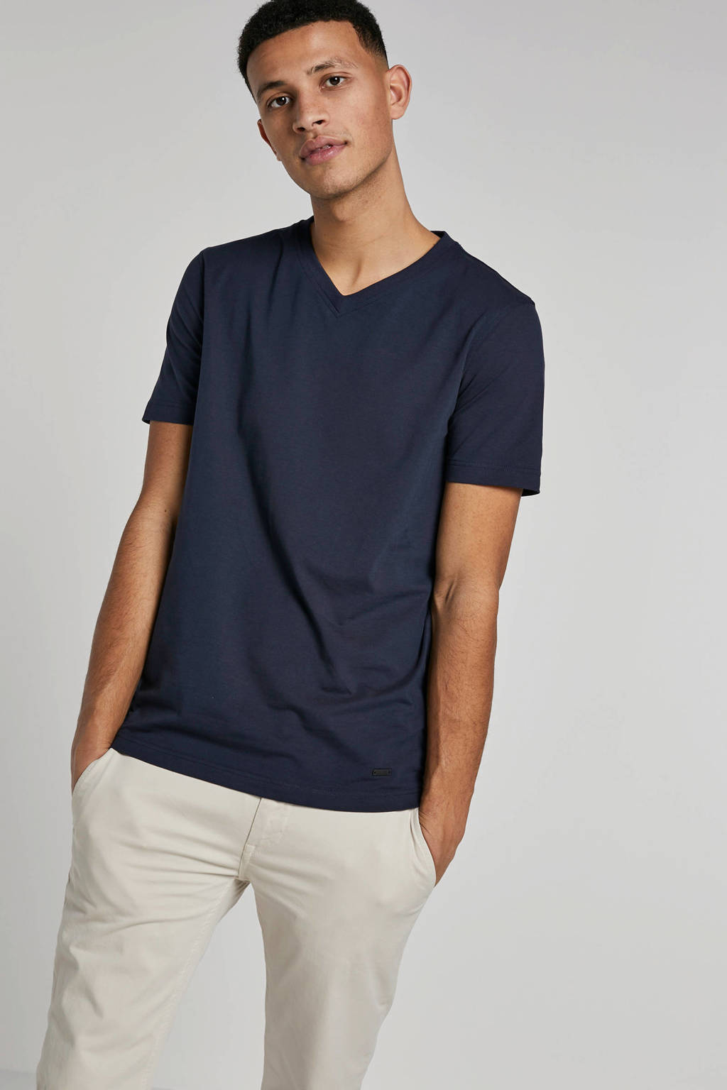 Boss Casual T-shirt, Donkerblauw