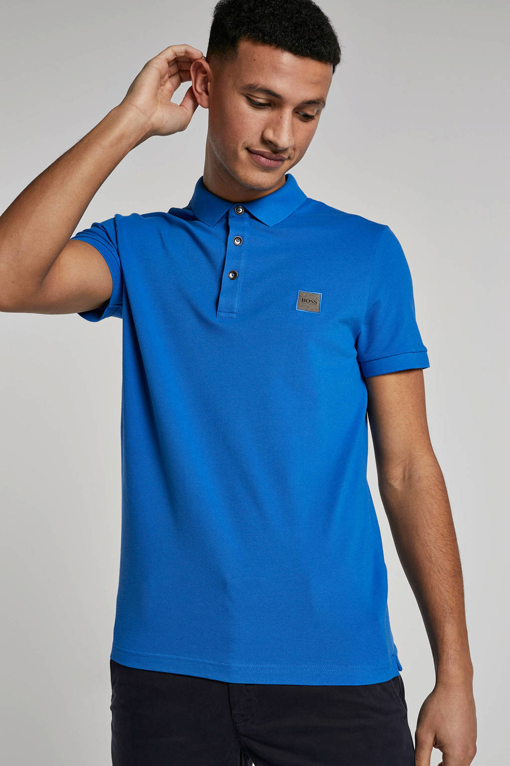 Boss Casual polo, Blauw