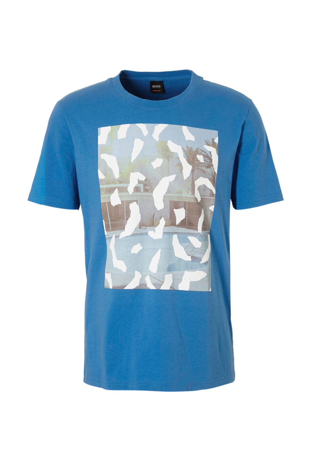 Boss Casual T-shirt, Blauw