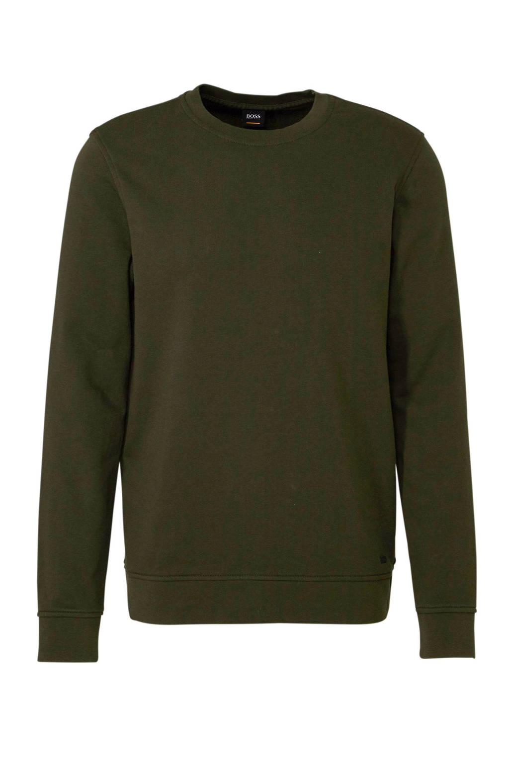 Boss Casual sweater donkergroen, Donkergroen