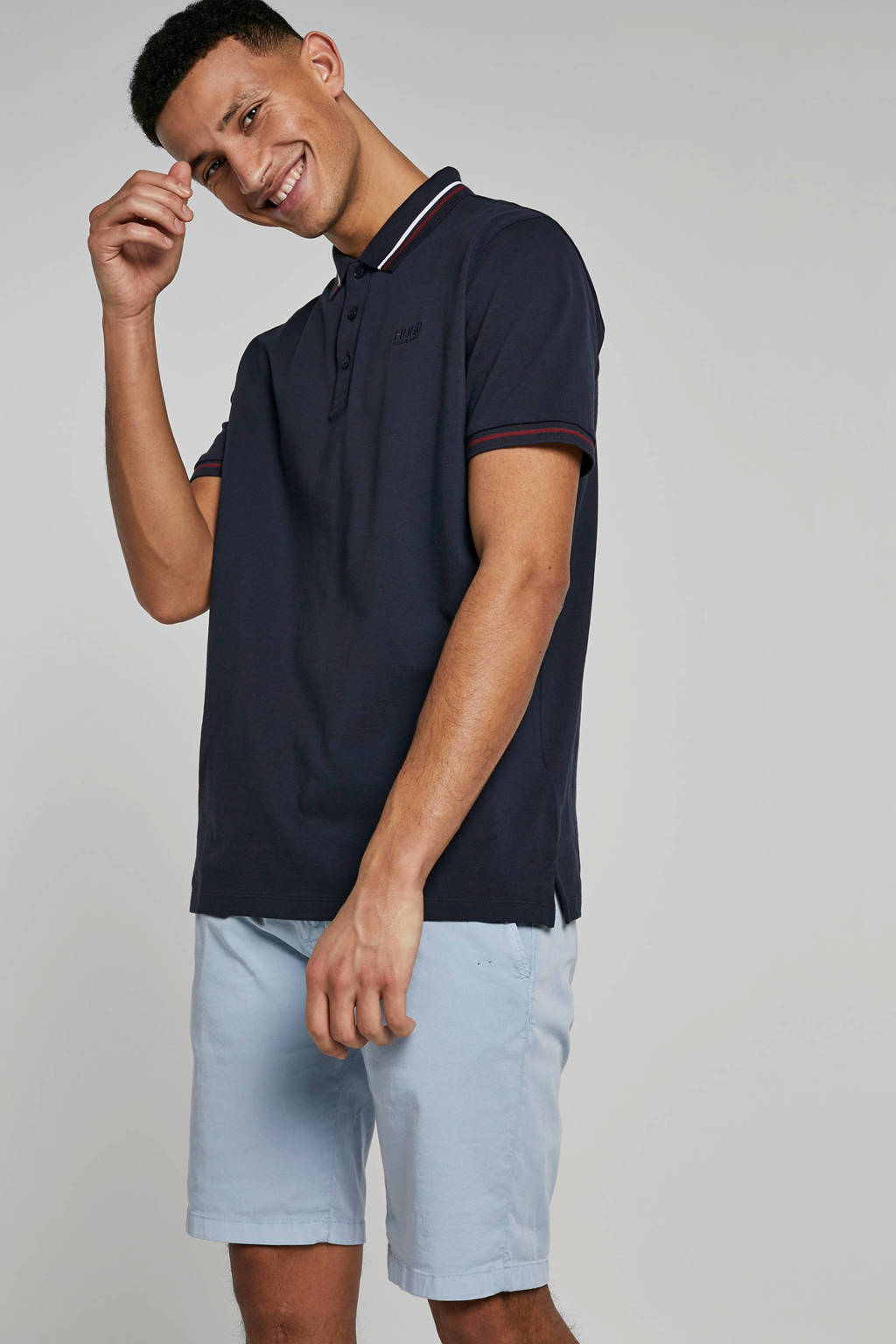 HUGO regular fit polo marine, Marine