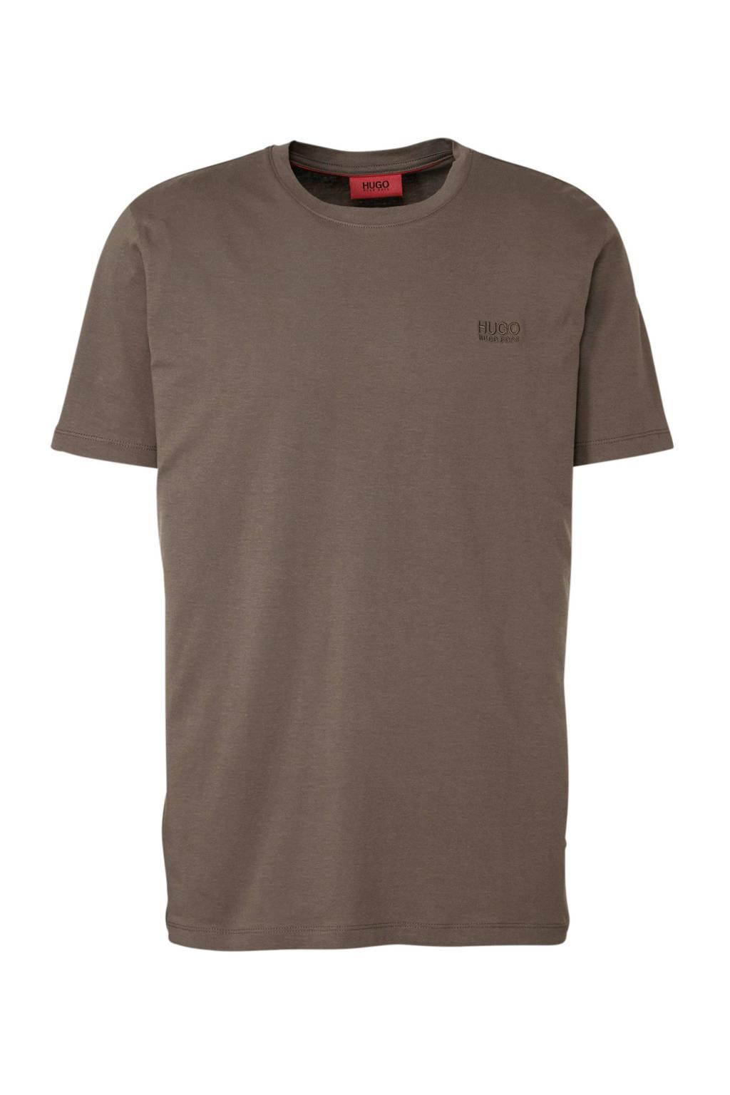HUGO T-shirt bruin, Bruin