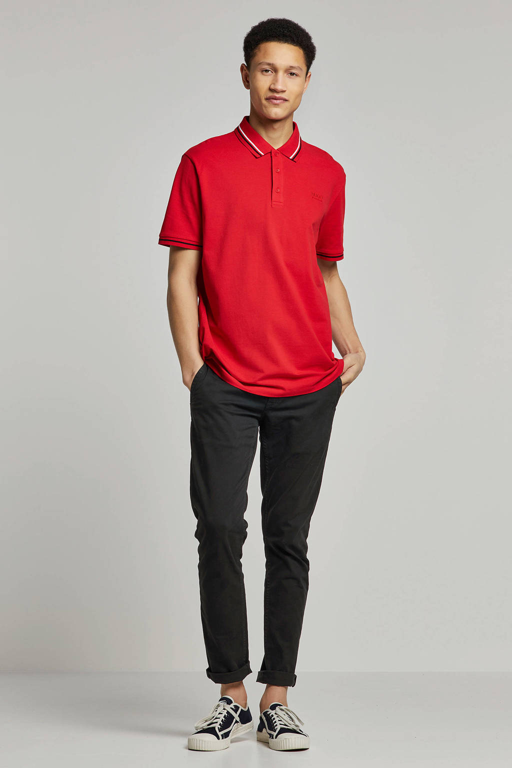 HUGO regular fit polo rood, Rood