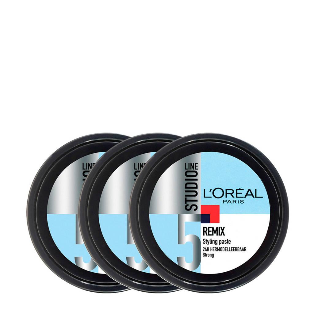 L'Oréal Paris Studio Line Special FX Remix Styling Paste - 3 x 150 ml