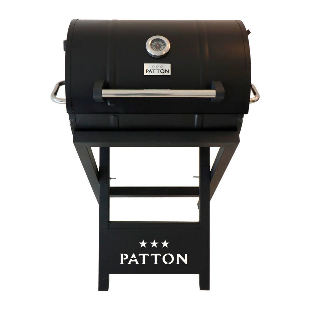 Patton  Barrel Chef barbecue, Zwart