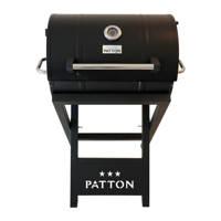 Patton  Barrel Chef barbecue, Zwart