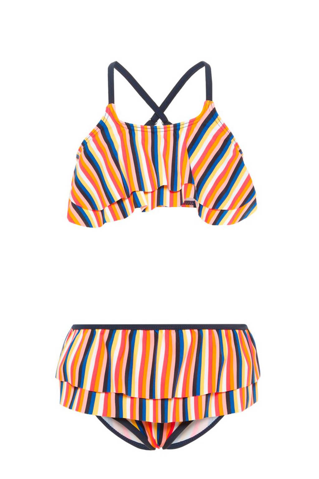 name it gestreepte bikini multi, Rood/wit/blauw