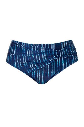 Mix & Match bikinibroekje high waist in een all over print blauw