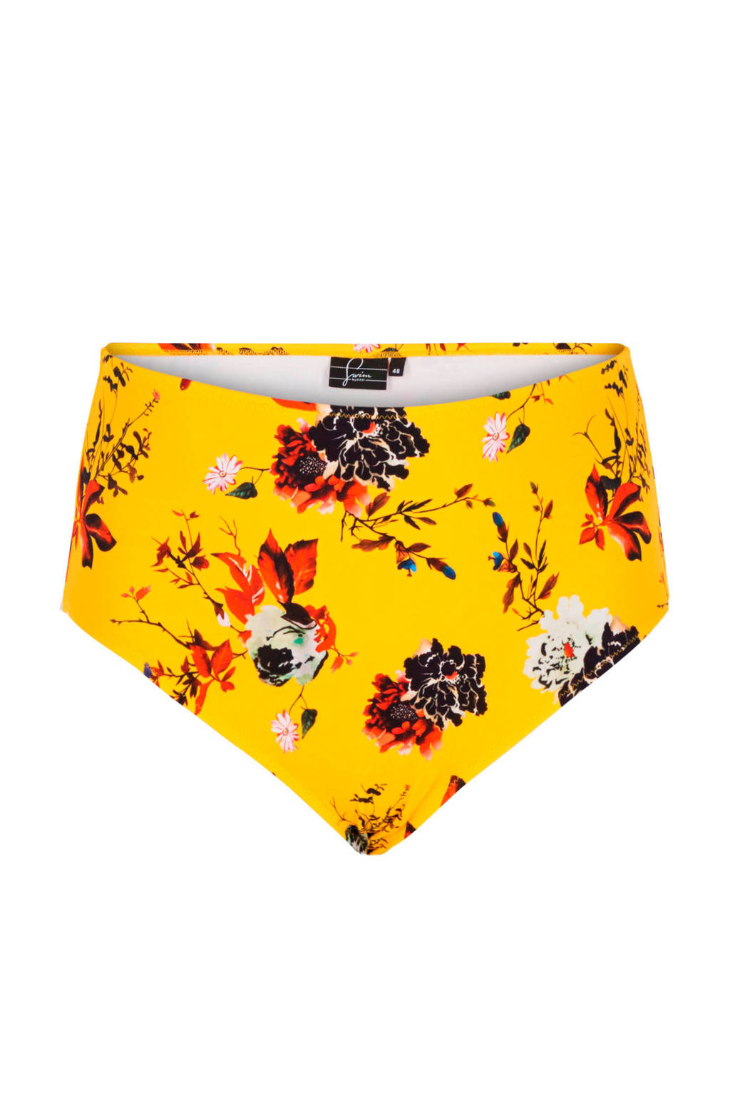 All Zizzicorrigerend Broekje Bikini Geel High Print In Een Waist Over AqYwqd5r
