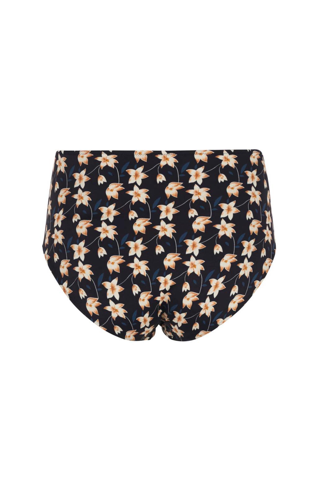 In Een Broekje Zwart Bloemenprint Bikini Zizzicorrigerend Waist High U4vx6Iqw