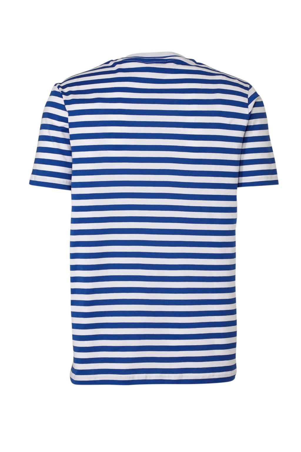 HUGO gestreept T-shirt blauw, Blauw/wit