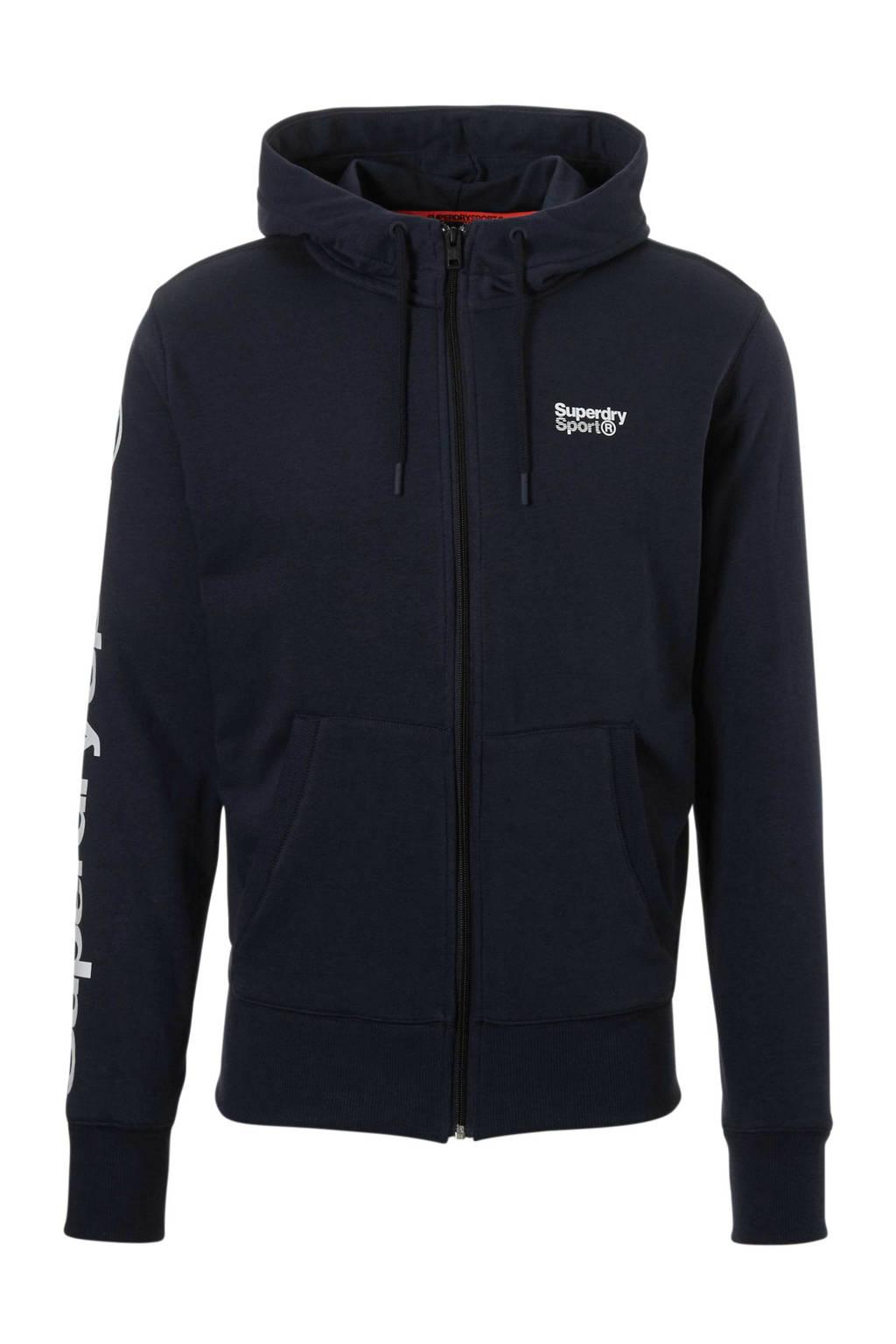 Superdry Sport   sportsweater donkerblauw, Donkerblauw