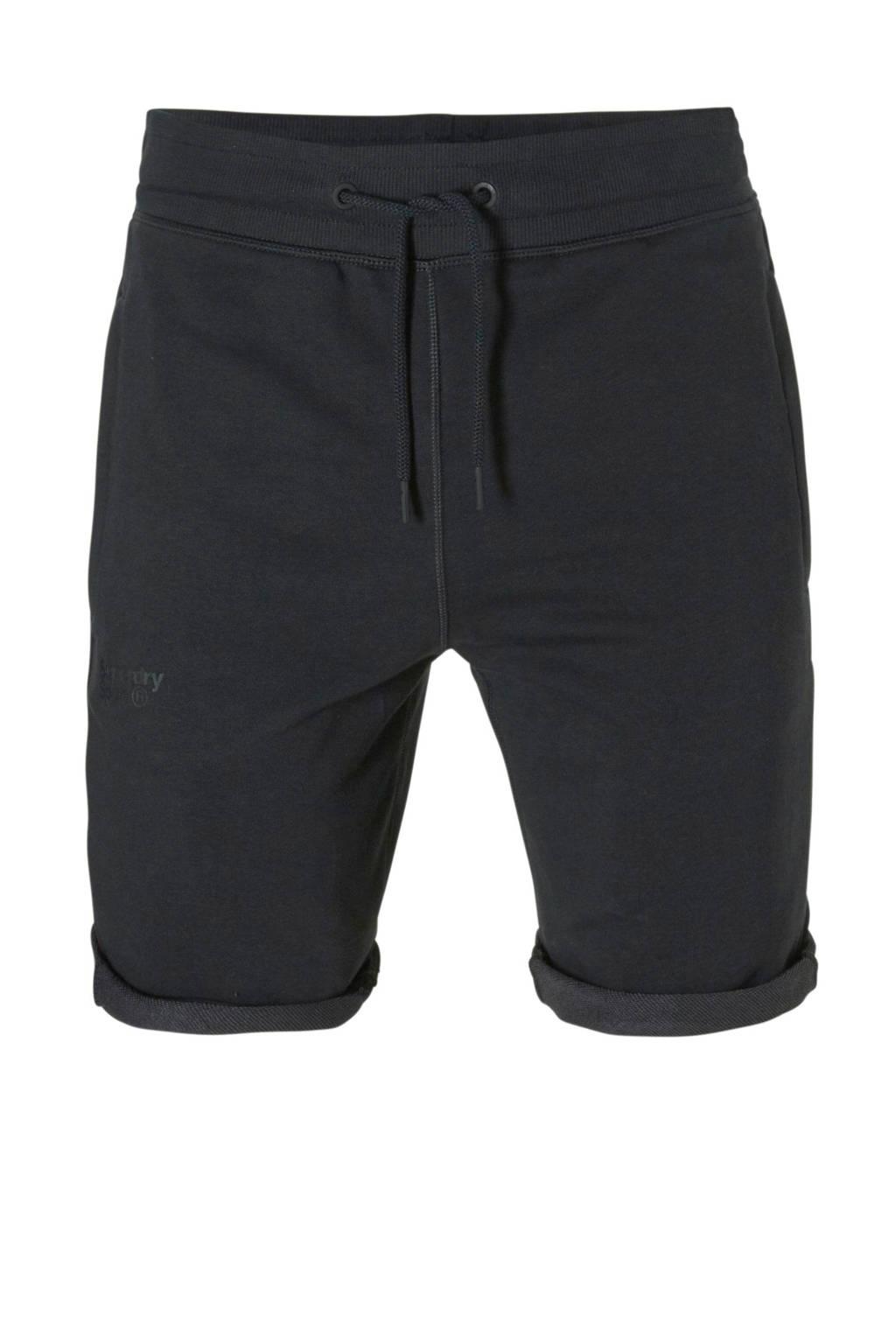 Superdry Sport   short  zwart, Zwart