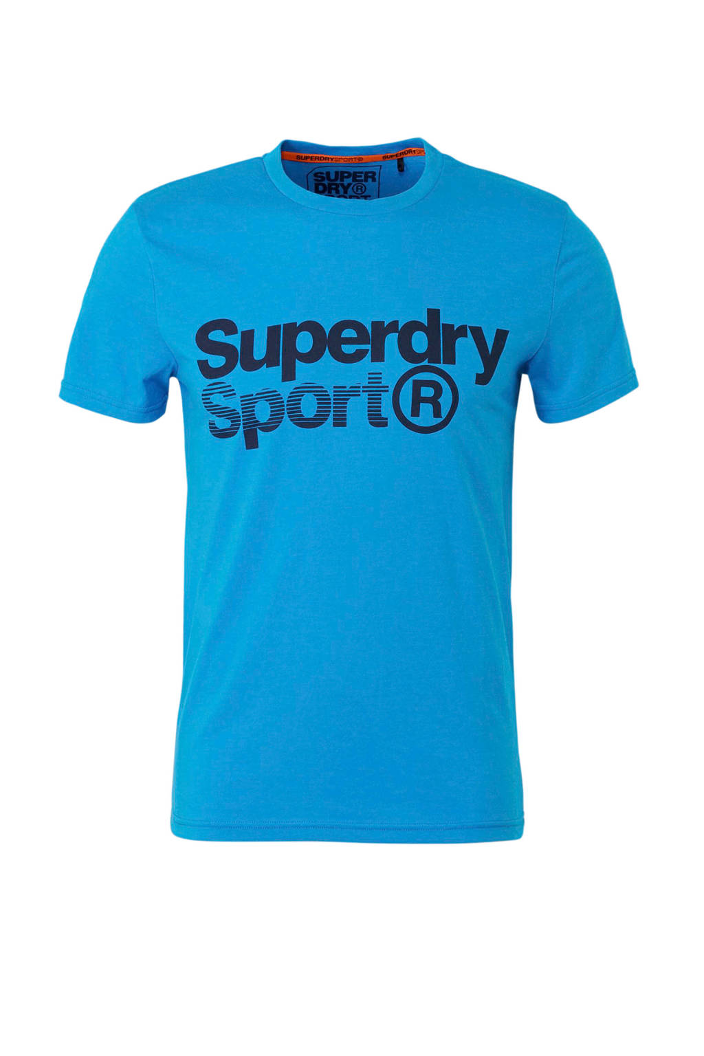 Superdry Sport   sport T-shirt met printopdruk blauw, Blauw