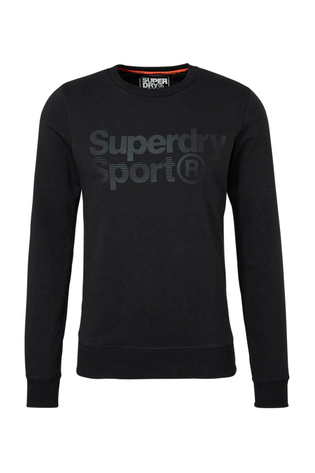 Superdry Sport   sportsweater zwart, Zwart