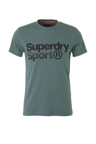 Sport   sport T-shirt met printopdruk olijfgroen