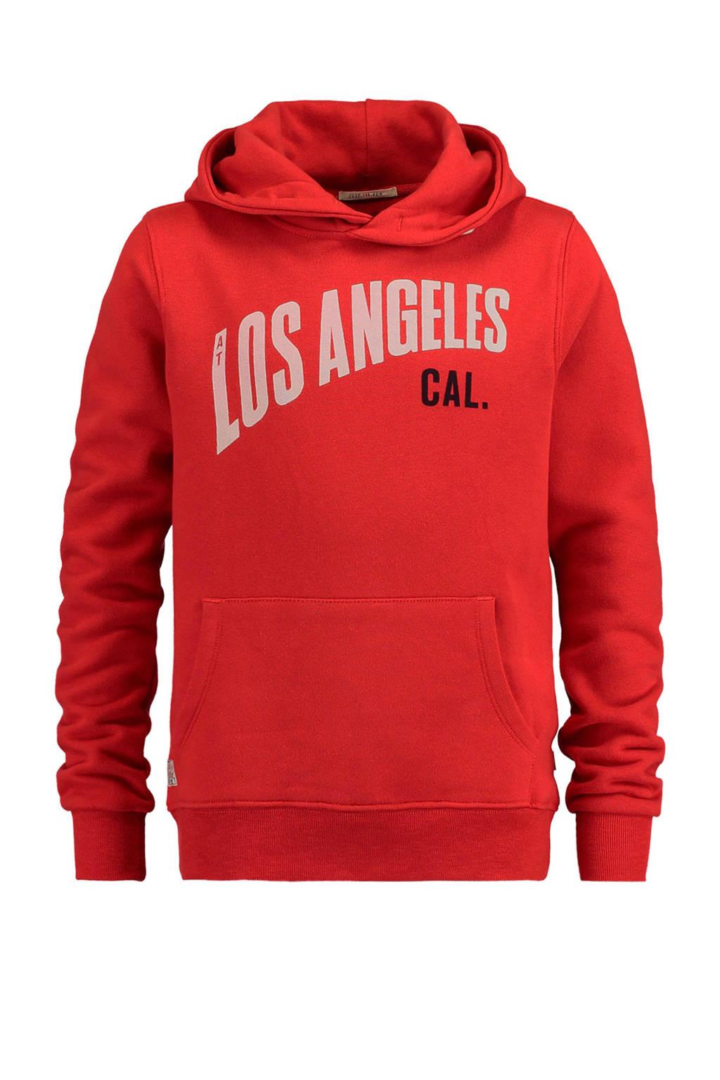 America Today Junior hoodie met tekst rood, Rood