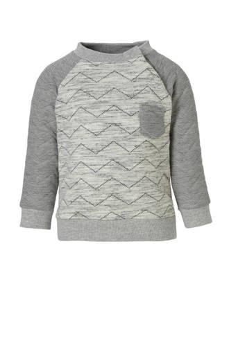Baby Club sweater grijs melange