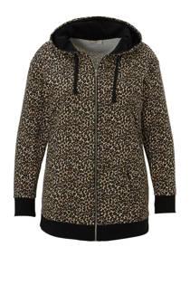 C&A XL Clockhouse sweatvest met luipaard print zwart (dames)